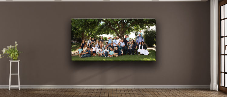 Family Photography Panoramic Art